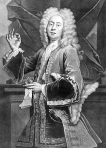 Image of Colley Cibber in the role of Lord Foppington