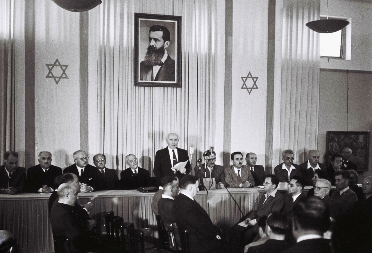 The Declaration of the State of Israel in 1948