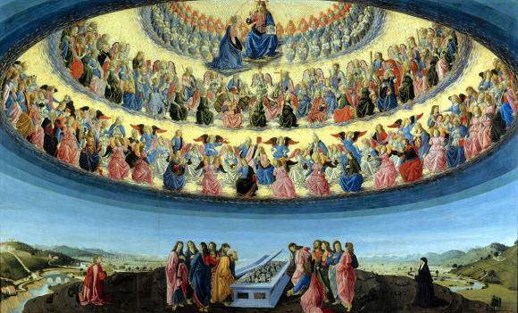 Hierarchy of Angels - the Assumption of the Virgin by Francesco Botticini
