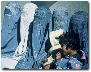Afghan women in burkas