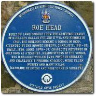 Roe Head School plaque